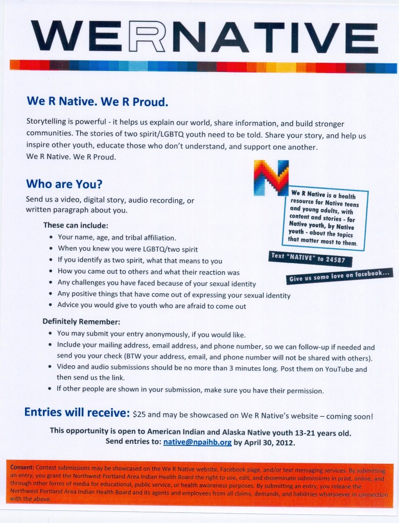 We R Native share your story poster